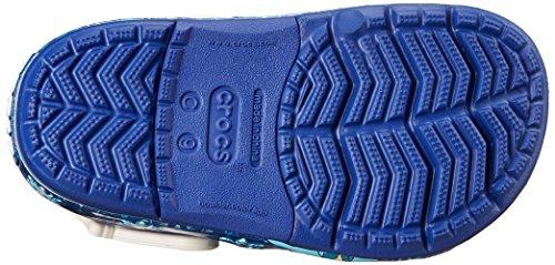 Crocs CrocsLights Frozen K, Zoccoli e sabot, Unisex - bambino Blu (Cerulean Blue/Oyster)