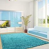 Ayyildiz Moderner Designer Teppich Life Shaggy 300 X 400 türkis Handgetuftet 100% P.P Friese Fußbodenheizung