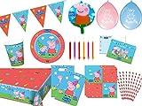 Folat/Diverse 84-tlg. Peppa Wutz Partyset Partybox alles komplett für deinen Kindergeburtstag