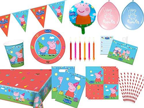 . Peppa Wutz Partyset Partybox alles komplett für deinen Kindergeburtstag ()