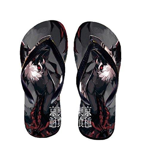 Bromeo Tokyo Ghoul Anime Unisex Flip Flops Zehentrenner Flip Pantoffeln 51
