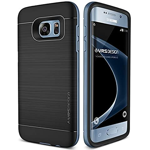 Coque Galaxy S7 Edge, VRS Design [High Pro Shield][Bleu] - [Housse Protection][Anti Chocs Case][Miltary Grade][Anti Scratch Etui]- pour Samsung Galaxy S7 Edge