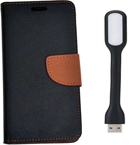 Novo Style Fancy Diary Flip Cover Case For Lenovo A7000/Lenovo K3 Note Black + Mini USB LED Light Adjust Angle / bendable Portable Flexible USB Light  available at amazon for Rs.258