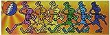 """GRATEFUL DEAD SKELLYS, Officially Licensed Original Artwork, 2"""" x 5.875""""- Sticker DECAL ETICHETTA"""