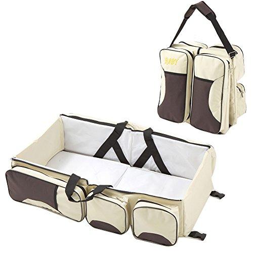 Adoraland multifunzionale bambino portatile pieghevole bag Baby culla culla Mummy Travel Tote khaki