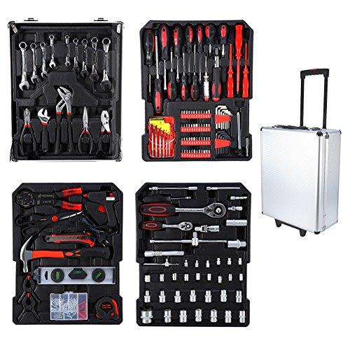 Preisvergleich Produktbild Werkzeugkasten Vollständige Reihe von Auto Reparatur Tool Mechanische Reparatur-Werkzeuge Werkzeugkasten (Plus Zwei weitere Handschuhe) & Super Angebot
