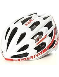 HYF-Aegis Casco inalámbrico de bicicleta de música Bluetooth casco de carretera / mountain bike inteligente , white red , M