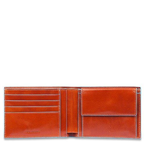 Piquadro Blue Square Portamonete con 4 Alloggiamenti per Carte di Credito, 12 cm, 0.43 litri, Mogano