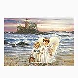 BaZhaHei de Pintura, Angel 5D Bordado Pinturas Rhinestone Pegado DIY Pintura Diamante punto de Cruz de Taladro/ángel del punto de la pintura del diamante del palillo 5D diamante bordado decoración