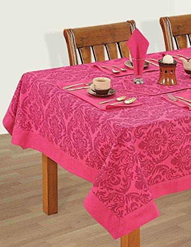 multicolori variopinte cotone floreale di primavera Tovaglie Tabelle 54 x 54 pollici, Cerise rosa di frontiera