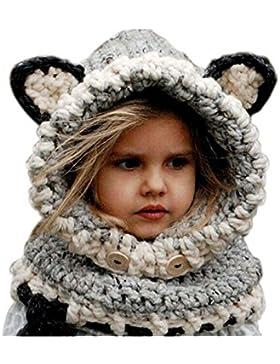 Juego de invierno de Jastore, para niñas, gorro y bufanda para invierno, con lindo diseño de zorro