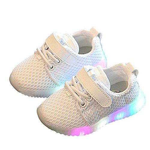 t shoes, Stillshine - Junge Girls blinken Sport Running Sneaker Baby shoes Halloween Christmas Gift (22, Weiß) ()