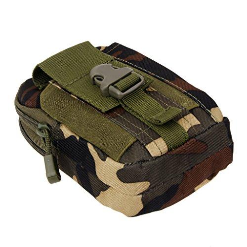 1x Taktische Bauchtasche Guerteltasche Huefttasche Tasche Bag Beutel fuer Sport WaldlandCamo