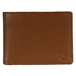 Kara Tan Color Artificial Leather Two Fold Wallet For Men