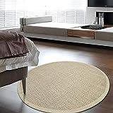 Clothes UK- Postmodern Licht Luxus Wohnzimmer Couchtisch Runde Teppich Retro Design Weaving Sisal Slip Teppich geben Rutschfeste Matte Teppich (Farbe : F, größe : 150cm)