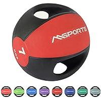 Balón Medicinal Premium con asas 1 – 10 kg – Calidad de estudio profesional  ... 398ae3dd3276
