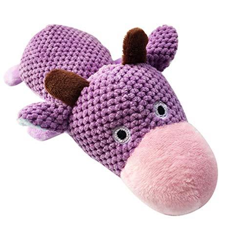 Pet Intelligenz entwickeln Molar Plüsch Kuh Ente Sound Toy, Kalb ()