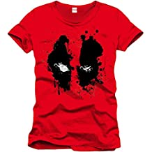 Deadpool Face Camiseta Rojo