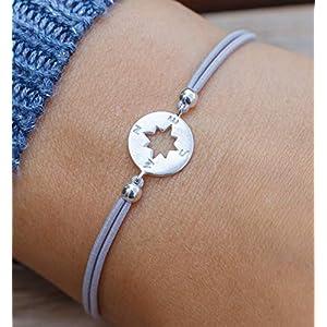 Geschenk zu Weihnachten Armband Kompass 925 silber