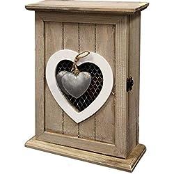 Shabby chic in legno chiave porta chiavi Holder box di visualizzazione ganci per montaggio a parete