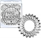 Invisibobble ORIGINAL Hair Ties, Crystal Clear, 3 Pack - Traceless, Strong Hold, Waterproof - Suitable for All Hair Types