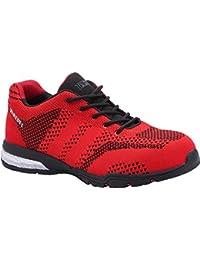 Paredes sp5039ro39Silverstone–Zapatos de seguridad S1P talla 39ROJO/NEGRO