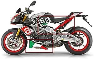 Aprilia Tuono V4 1100 Factory Italienische Flagge Bauch Und Seitenwand Grafik Satz Flacher Farb Auto