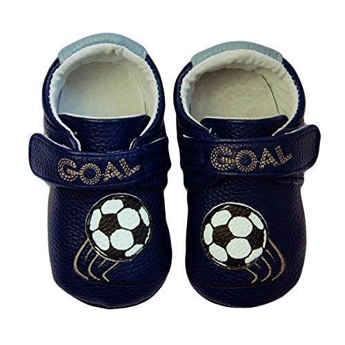 Rose & Chocolat Chaussures Bébé Soccer Star Bleu