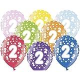 Luftballon 2.Geburtstag bunt gemischt Partydeko