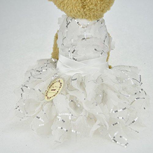 Bling Hund Puppy Luxus Kleid Haustier Katze Hund Tutu Rock PRINCESSPARTY Hochzeit Sommer kleinen Hund Chihuahua Kleidung Shirt Kostüm (Katze Auf Dem Rücken Hund Kostüme)
