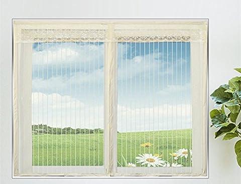 Fliegengitter Fenster mit Magnetverschluss Insektenschutz Fenster,60*120