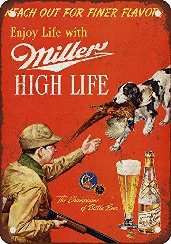 Metalsigns 1958Miller Bière et Faisan de chasse Look d'occasion  Livré partout en Belgique