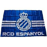 RCD Espanyol Badesp Bandera, Blanco/Azul, Talla Única