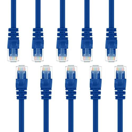 20 Ft 6-ethernet-kabel Cat (100 Stück Ethernet-Netwerk-Kabel, CAT6, 30 cm, RJ45-Stecker, blau, unterstützt Gigabit Ethernet und POE, von GearIT  blau 20 Feet (10-Pack))
