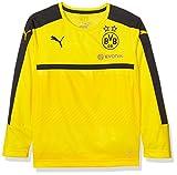Puma Maillot de sport à manches longues pour enfant BVB Avec logos Sponsor 12 ans cyber yellow-Black