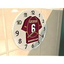 nrl Australia de rugby League Camiseta Relojes de Pared, Cualquier nombre, cada Número Team Personalización gratuita., hombre mujer infantil, - QUEENSLAND