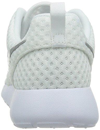 Nike Roshe One BR, Damen Sneaker White/Metallic Platinum