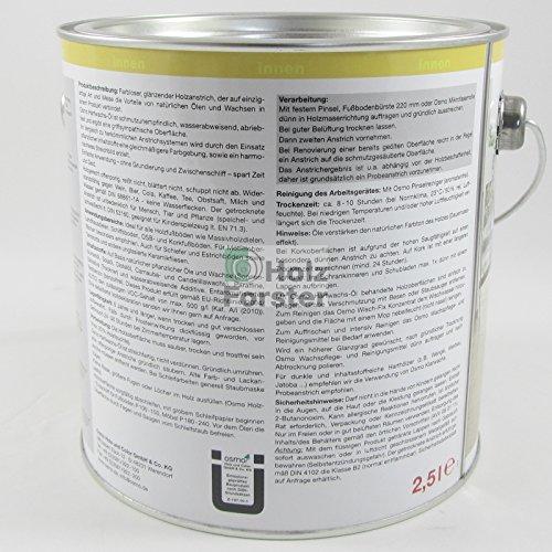 Osmo Hartwachs-Öl Original 3032 Farblos seidenmatt - 2,5 Liter Test