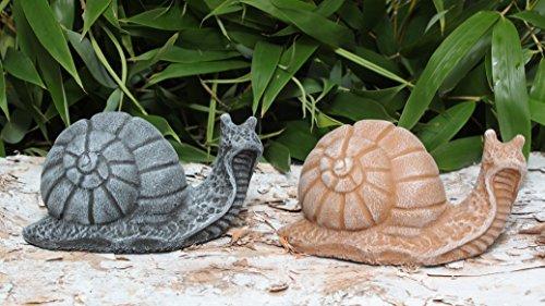 gartenfigur-schnecken-2er-set-steinguss-schiefergrau-terrakotta