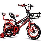 Bicyclehx Fahrrad-Sicherheits-Stabiles Metalllegierungs-Fahrrad der Qualitäts-Kinder in 12/14/16/18 Zoll-Kind-Fahrrad mit Metallkorb (Color : Red, Größe : 14 inch)