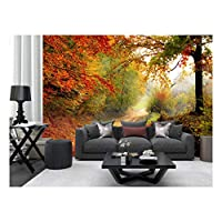 Tree Leaves Plants Forest Autumn Photo Wallpaper Mural Home Poster Decoration 390x260cm