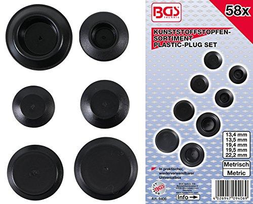 Bgs 9406 plastique Bouchon Assortiment de | 58 pièces