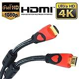 CamTech Câble HDMI haut de gamme 1.5M v2.0 Gold Haute vitesse HDTV UltraHD HD 2160p 4K 3D