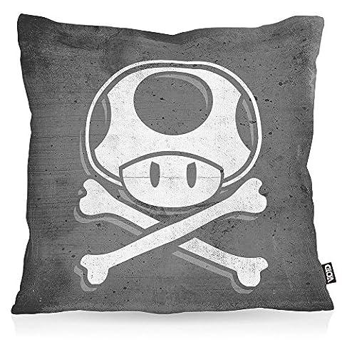 VOID Toad Skull Kissenbezug Kissenhülle Outdoor Indoor mario totenkopf videospiel