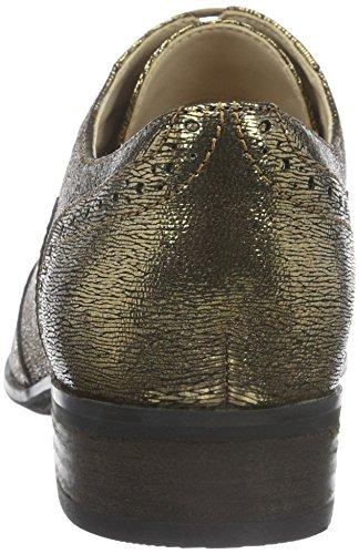 Clarks Damen Hamble Oak Derby Gelb (Gold Metallic Leather)