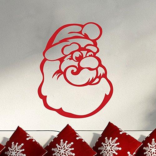 Ambiance-Live Wandtattoo Kopf von Santa Claus - 55 X 45 cm, Sand -