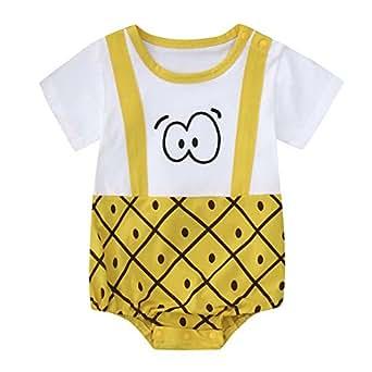 KaloryWee Newborn Kids Baby Boys Clothes Sleeveless Camouflage Romper Jumpsuit Pajamas Clothing (0-6 Months, Eyepineapple)