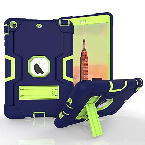 Daker , iPad Mini 2Case für iPad Mini 3, iPad Mini Fall, Slim Bumper Smart Case Ständer Wasserdicht schmutzfest stoßfest für Apple iPad Mini 1/2/3Bunten, Rückseite Durchsichtig Leicht Navy Green Samsung Ipod Touch