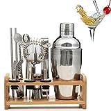 Lychee 12 Pezzi Shaker Cocktail Set Professionale,Premium Set di Accessori da Cocktails in Acciaio Inox,Kit da Barman,Perfetto per Party con Amici