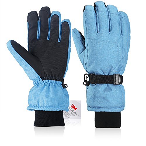 3M Thinsulate Extrem Warm Winddicht Wasserdicht Handschuhe Herren/ Damen Ski Handschuhe Winter Handschuhe mit TOUCHSCREEN FUNKTION Skifahren Eislaufen Snowboard Radfahren Wintersport